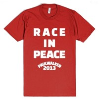 Paul Walker RIP Race In Peace | White Ink-Unisex Red T-Shirt