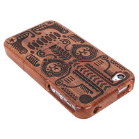 Retro Totem Wooden Cover Case For Iphone 4/4s/5