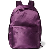 Purple Satin Backpack by RAF SIMONS