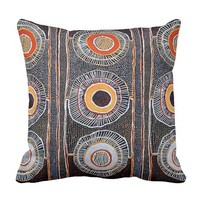 African Tribal Pattern Throw Pillow