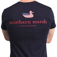 Southern Marsh Authentic Flag Tee in Navy by Southern Marsh