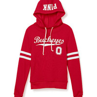 Ohio State University Funnel-Neck Hoodie - PINK - Victoria's Secret