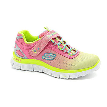 Skechers Girls' Skech-Knit Appeal Sneakers - Neon Coral Multi