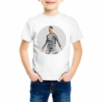 Summer fashion Children's 3d print Lionel Messi t shirt Kid/baby Cristiano Ronaldo short sleeve T-shirts Boys/Girls clothes Z9-4