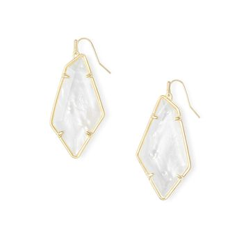 Kendra Scott - Emmie Gold Earrings in Ivory Mother of Pearl