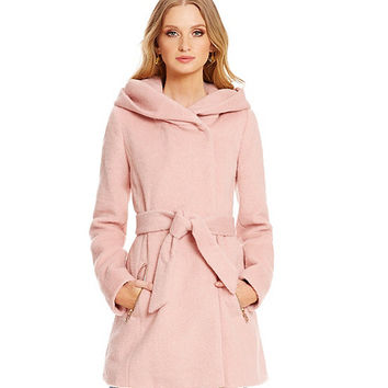 Guess Oversized Shawl Collar Mohair Wrap Coat | Dillards