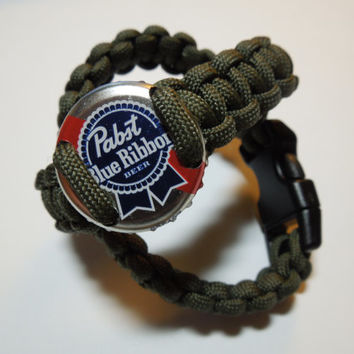 Custom Paracord Bracelet - Bottle Cap, Shotgun Shell, or plain