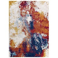 Entourage Adeline Contemporary Modern Abstract 8x10 Area Rug