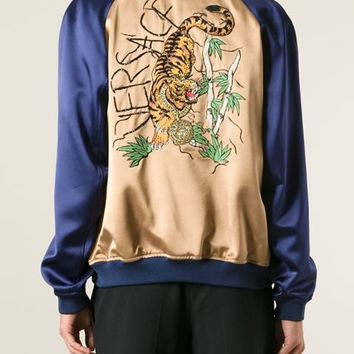 Versace Embroidered Tiger Bomber Jacket - Elite - Farfetch.com