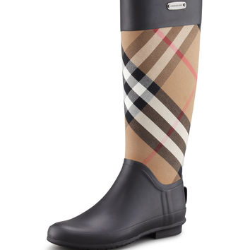 Clemence Mixed Media Rain Boot, Housecheck