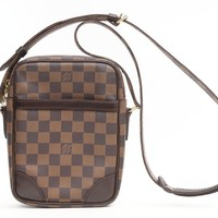 Louis Vuitton Damier Danube Shoulder Bag Brown 5450