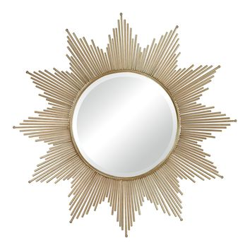 132-011 Churchfield Metal Frame Starburst Mirror