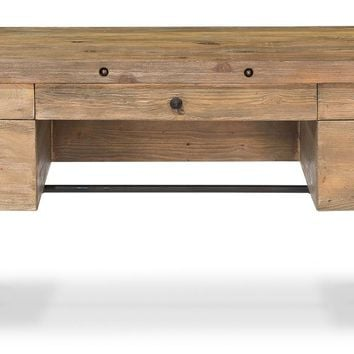 Timothy Industrial Desk - Recycled Pine & Black Iron