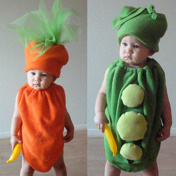 Kids Costumes Childrens Costumes Twin Costumes Halloween Costumes Peas and Carrots