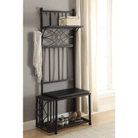 Coaster Company Black Metal Hall Tree | Overstock.com Shopping - The Best Deals on Accent Pieces