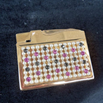 1950's Rhinestone Lighter Vintage Multi Colored by MartiniMermaid
