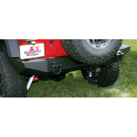 All Things Jeep - Textured Black Rear XHD Bumper by Rugged Ridge for Jeep Wrangler JK (2007-2015)