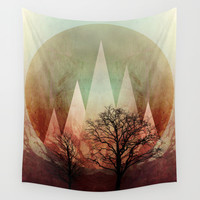 TREES under MAGIC MOUNTAINS I Wall Tapestry by Pia Schneider [atelier COLOUR-VISION]