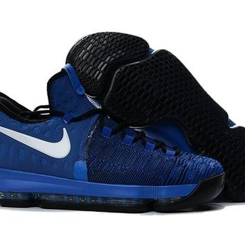 auguau Nike Men's Durant Zoom KD 9 EP Basketball Shoes Blue 40-46