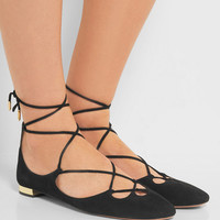 Aquazzura - Dancer suede ballet flats