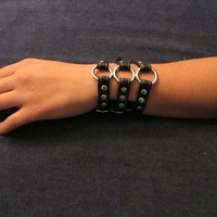 Three Rings Leather Cuff