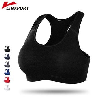 Sexy Women Sports Top Push Up Sports Bra Padded Tank Tops High Impact Yoga Bras Plus Size Vest Sweats for Running Gym Fitness