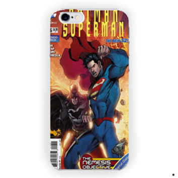 Batman Superman Poster Comic For iPhone 6 / 6 Plus Case