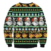 Full Print Ugly Christmas sweater