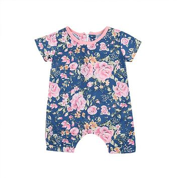 Newborn Flower Baby Kids Girls Cotton Romper Jumpsuit Halloween Gift Clothes Outfits