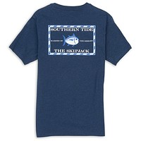 Original Skipjack Tee in Heathered Navy by Southern Tide