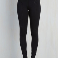 Nautical Skinny Sail into the Future Pants in Black