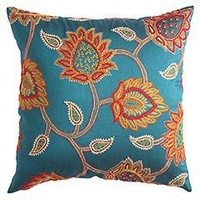Pier 1 Imports - Product Detail - Embroidered Jacobean Floral Pillow