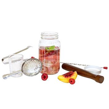 "Personalized ""Pick Your Poison"" Mason Jar Mixology Set"