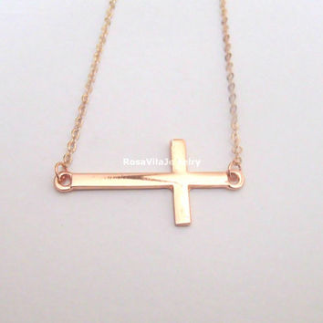 Cross Bracelet - 2 colors available (gold and silver) - Adjustable length, dainty, cute and lovely pendant jewelry; cross bracelet