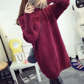 Fashion Winter Maternity Sweaters Loose Clothes for Pregnant Women Pregnancy Pullovers Dress Maternity Clothing