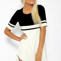 Walk the Line Dress - Monochrome