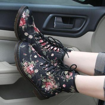 ONETOW Day-First? Floral Printed Boots Shoes