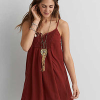 AEO LACE FRONT SHIFT DRESS