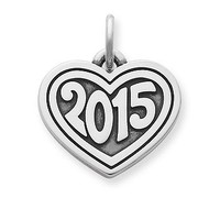 """Heart with """"2015"""" Charm 