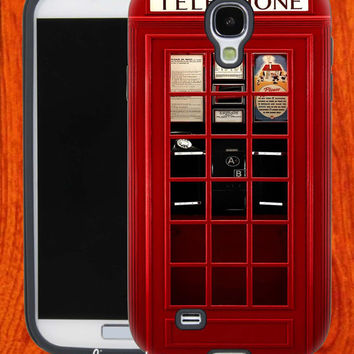 London Telephone Booth,Accessories,Case,Cell Phone,iPhone 4/4S,iPhone 5/5S/5C,Samsung Galaxy S3,Samsung Galaxy S4,Rubber,27-11-7-Hk