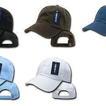 New Washed Look Polo Baseball Hats Caps Ballcap-Decky 108