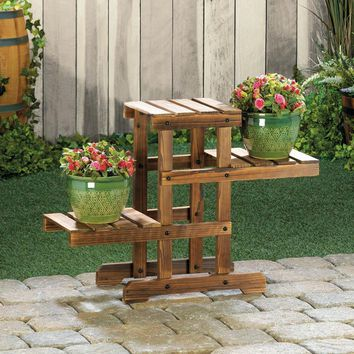Planter Stand-3 Tier Wooden Pallets