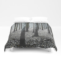 Coma forest Duvet Cover by happymelvin