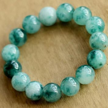 Exclusive New Natural color Jade bracelet semi-precious stones natural beads bangles