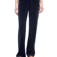 Logo Velour Juicy Stacked Original Pant by Juicy Couture