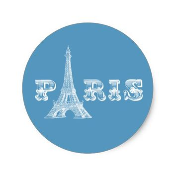 PARIS Eiffel Tower Blue Sticker
