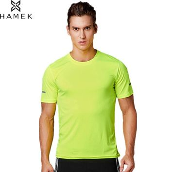 HAMEK Hot Men Sport Fitness Bodybuilding Gym T-shirt Quick Qry Running Jerseys Basketball Tennis Tee Tops Team Sportswear Design