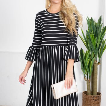 Annabelle Striped Midi Dress