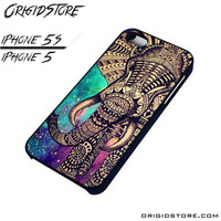 elephant galaxy aztec pattern For iPhone Cases Phone Covers Phone Cases iPhone 5 Case iPhone 5S Case Smartphone Case