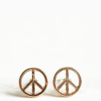 Peace Out Earrings - $12.00: ThreadSence, Women's Indie & Bohemian Clothing, Dresses, & Accessories